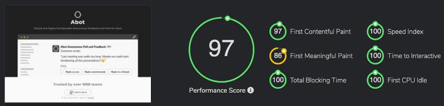 Abot for Slack FastOrSlow score