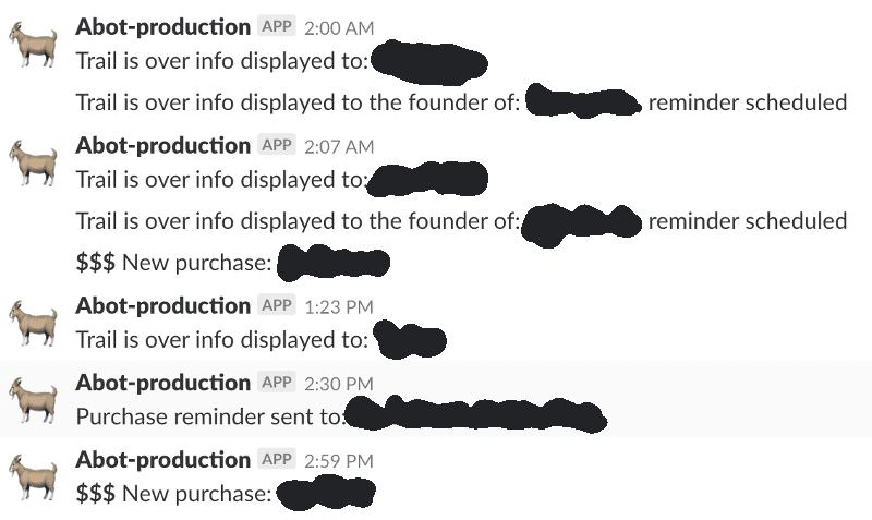 Abot Slack notifications