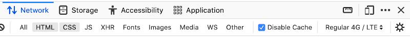 Firefox network throttle setting