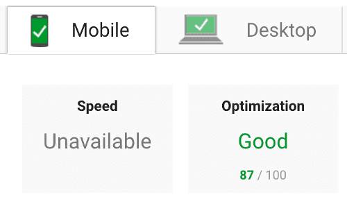 Google speed ranking on mobile