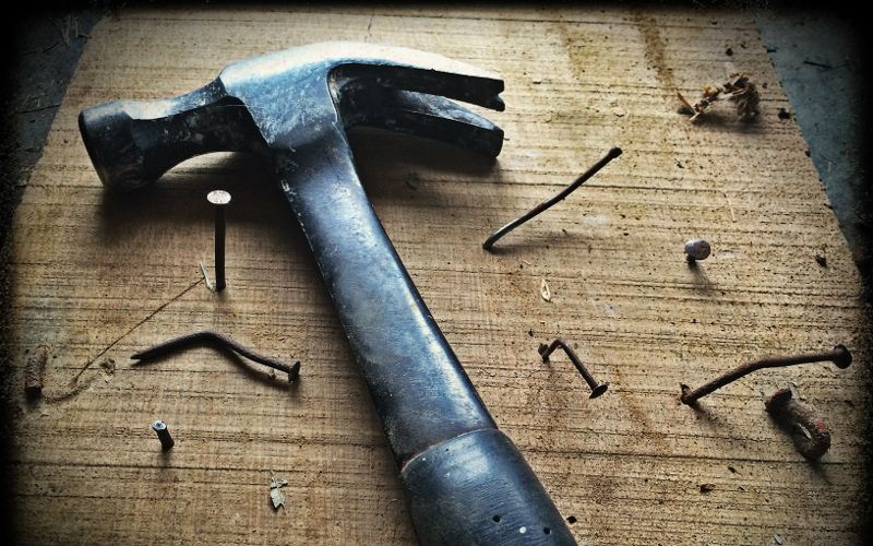 Hammer represents that Medium is a wrong tool for your blog